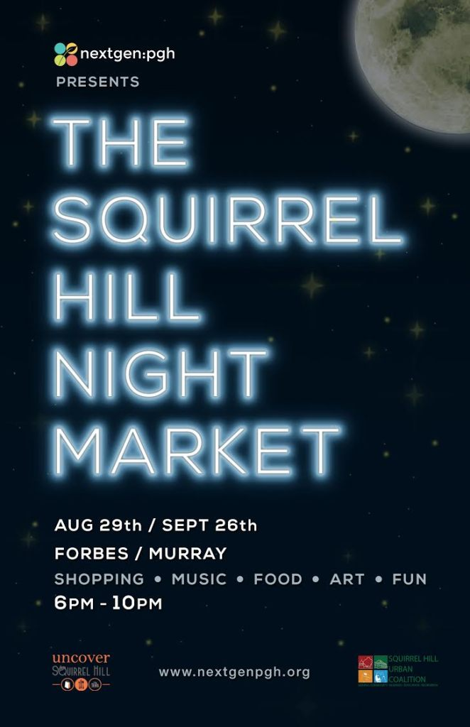 Sq Hill Night Market Poster Aug+Sept