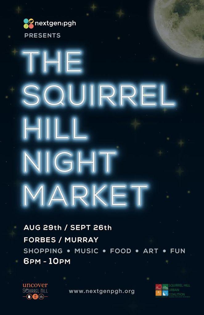 Sq Hill Night Market Poster Aug+Sept