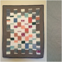 My quilt with fabric scraps